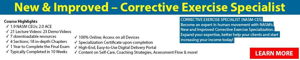 NASM Corrective Exercise Specialist
